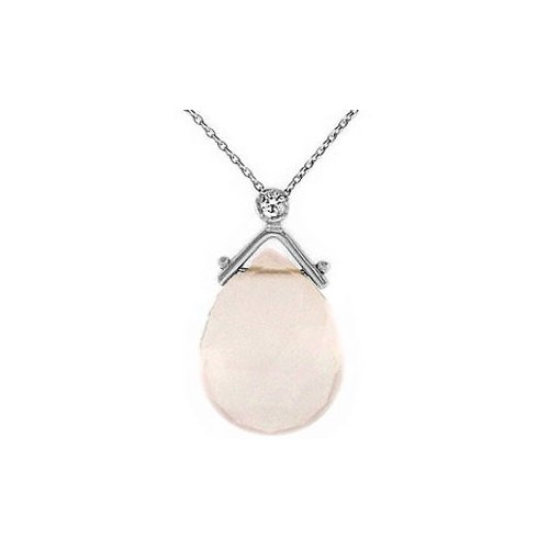 0.02 ct Pırlanta Rose Quartz Kolye SP10973
