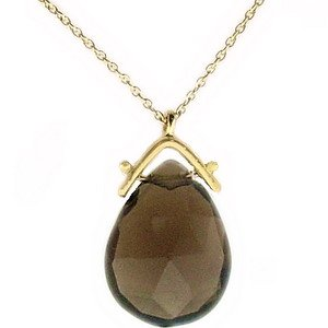 Drop Kesim Smoky Quartz Kolye GP10050