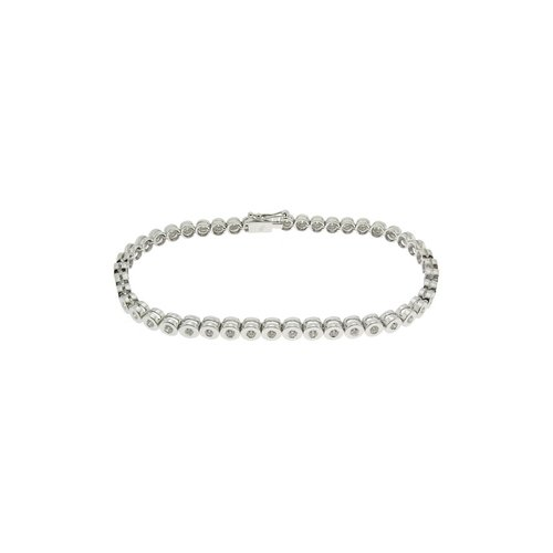 1.01ct. Diamond 18K Solid Gold Tennis Bracelet