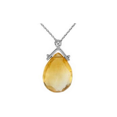 0.02 ct Pırlanta Citrine Kolye SP10977