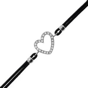 0.07ct. Diamond 18K Solid Gold Heart Bracelet
