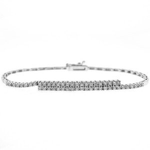 0.96ct. Diamond 18K Solid Gold Tennis Bracelet