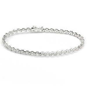 3.05ct. Diamond 18K Solid Gold Tennis Bracelet