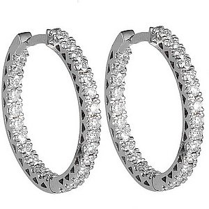 1.12ct. Diamond 18K Solid Gold Ring Earring