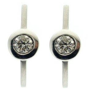 0.86ct. Diamond 18K Solid Gold Solitaire Earring