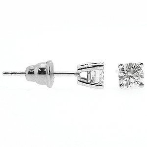 0.75ct. Diamond 18K Solid Gold Solitaire Earring