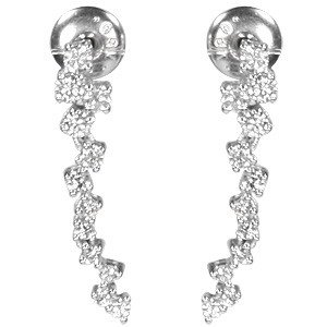 0.82ct. Diamond 18K Solid Gold Modern Design Earring