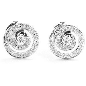 0.37ct. Diamond 18K Solid Gold Modern Design Earring