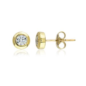 0.3ct. Diamond 14K Solid Gold Solitaire Earring