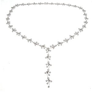 2.05ct. Diamond 18K Solid Gold Neckband