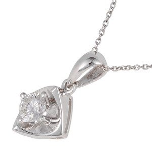 0.23ct. Diamond 18K Solid Gold Solitaire Necklace
