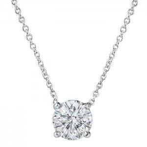 0.31ct. Diamond 14K Solid Gold Solitaire Necklace