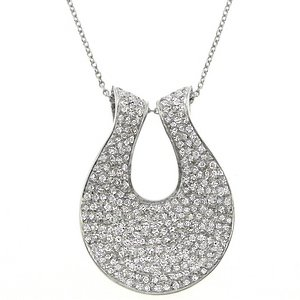 2.62ct. Diamond 18K Solid Gold Modern Design Necklace