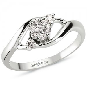 0.2ct. Diamond 14K Solid Gold Solitaire Like Ring