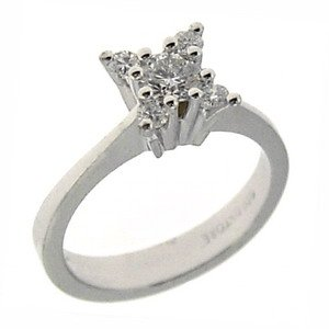 0.54ct. Diamond 18K Solid Gold Modern Design Solitaire Like Ring