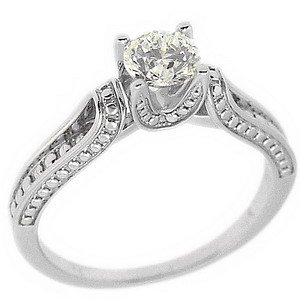 0.5ct. Diamond 18K Solid Gold Solitaire Ring