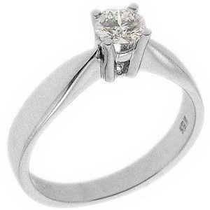 0.31ct. Diamond 18K Solid Gold Solitaire Classic Ring