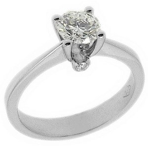 0.75ct. Diamond 18K Solid Gold Solitaire Ring
