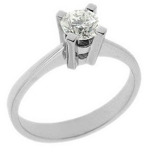 0.52ct. Diamond 18K Solid Gold Solitaire Classic Ring