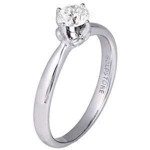 0.43ct. Diamond 18K Solid Gold Solitaire Classic Ring