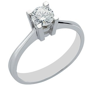 0.5ct. Diamond 14K Solid Gold Solitaire Classic Ring