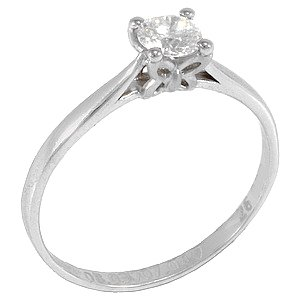 0.32ct. Diamond 18K Solid Gold Solitaire Butterfly Ring