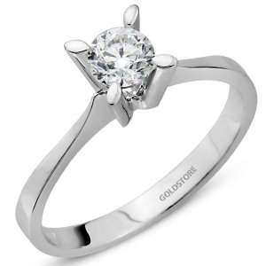 0.5ct. Diamond 18K Solid Gold Solitaire Classic Ring