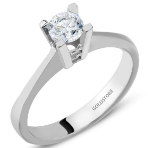 0.3ct. Diamond 14K Solid Gold Solitaire Classic Ring