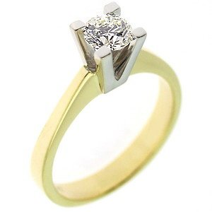 0.44ct. Diamond 18K Solid Gold Solitaire Classic Ring