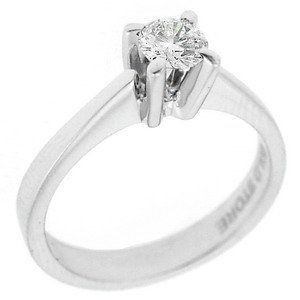 0.3ct. Diamond 18K Solid Gold Solitaire Classic Ring