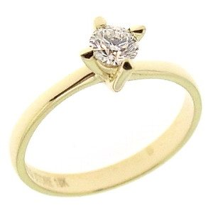0.28ct. Diamond 18K Solid Gold Solitaire Ring