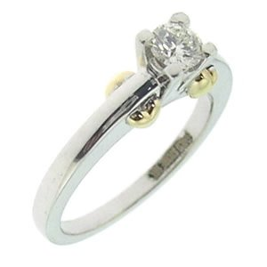 0.32ct. Diamond 18K Solid Gold Solitaire Ring