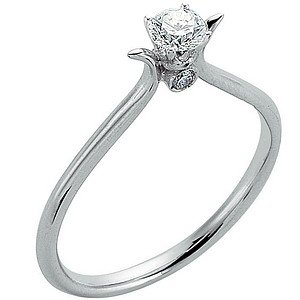 0.25ct. Diamond 18K Solid Gold Solitaire Ring