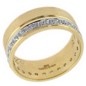0.48ct. Diamond 18K Solid Gold Wedding Band Ring