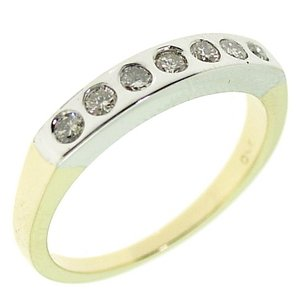 0.27ct. Diamond 18K Solid Gold 7 Stones Ring