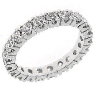 1.69ct. Diamond 18K Solid Gold Eternity Ring