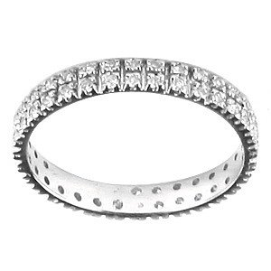 0.35ct. Diamond 18K Solid Gold Eternity Ring