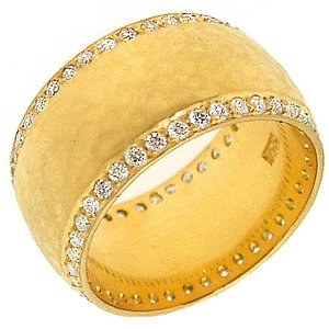 0.86ct. Diamond 18K Solid Gold Wedding Band Ring