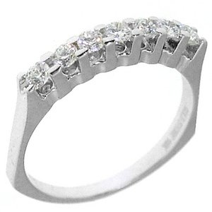 0.39ct. Diamond 18K Solid Gold 7 Stones Ring