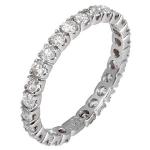 0.94ct. Diamond 18K Solid Gold Eternity Ring