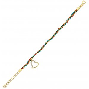 14K Solid Gold Heart Bracelet