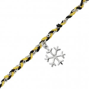 14K Solid Gold Snow Flake Bracelet