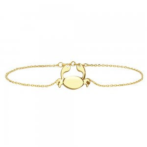14K Solid Gold Modern Design Cancer Crab Bracelet