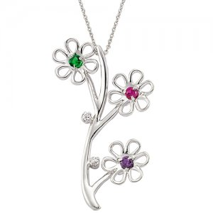 14K Solid Gold Modern Design Flower Daisy Necklace