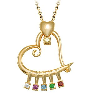 14K Solid Gold Heart White Topaz Necklace