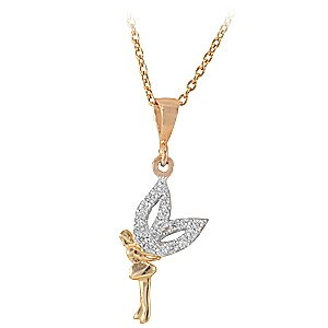 14K Solid Gold Nymph Cubic Zirconia Necklace