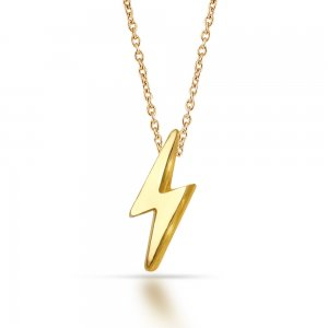 14K Solid Gold Modern Design Necklace