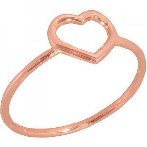 14K Solid Gold Heart Ring