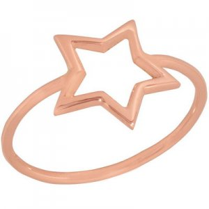 14K Solid Gold Star Ring
