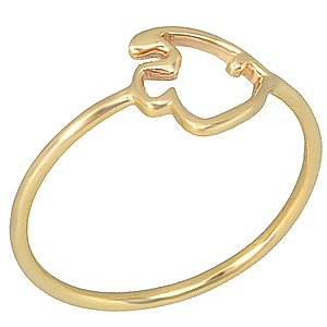 14K Solid Gold Modern Design Fish Ring